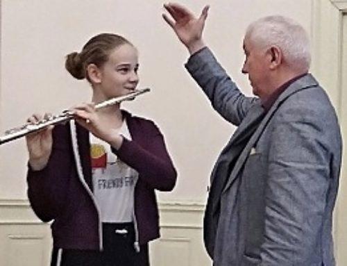Flétnový seminář s panem prof. Miroslavem Lopuchovským v ZUŠ Vysoké Mýto